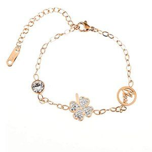 Jewelry - Clover Inspired Chain Link Bracelet